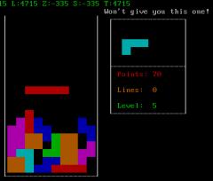 Bastard Tetris en una consola Debian GNU/Linux